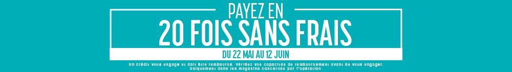 Paiement en 20 fois sans frais magasin Le Lit Paris